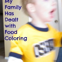 How My Family Has Dealt with Food Coloring