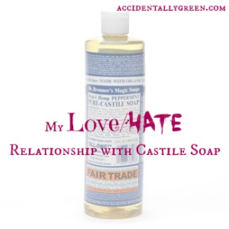 My Love Hate Relationship with Castile Soap {accidentallygreen.com}