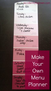 Make Your Own Menu Planner via Accidentally Green