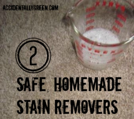 2 Safe Homemade Stain Removers {Accidentally Green}