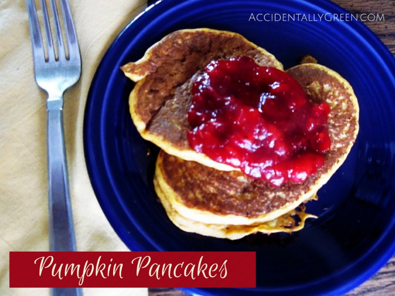Pumpkin Pancakes {AccidentallyGreen.com}