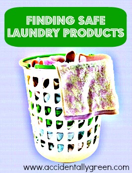 Finding Safe Laundry Products