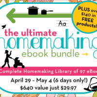 Huge Homemaking eBook Sale Starts Today!