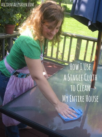 Tired of cleaning products? Learn how I use a single cloth to clean my entire house!