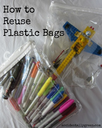 How to Reuse Plastic Bags {Accidentally Green}