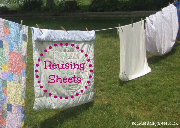 Reusing Sheets {Accidentally Green}