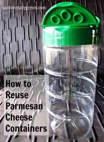 How to Reuse Parmesan Cheese Containers {Accidentally Green}