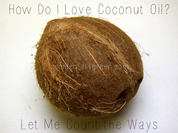 How Do I Love Coconut Oil? Let Me Count the Ways {accidentallygreen.com}