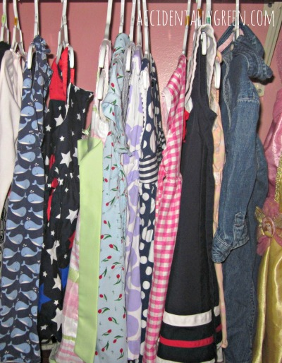 Buying, Storing and Passing Along Children's Clothes {accidentallygreen.com}