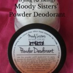 Trying {& Liking} Moody Sisters' Powder Deodorant {AccidentallyGreen.com}