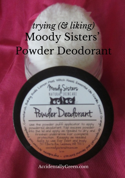 Trying {& Liking} Moody Sisters' Powder Deodorant {AccidentallyGreen.com}