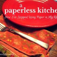 A Paperless Kitchen {How I've Stopped Using Paper in My Kitchen}