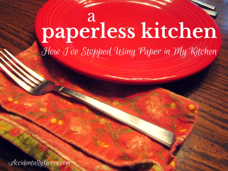 A Paperless Kitchen {AccidentallyGreen.com}