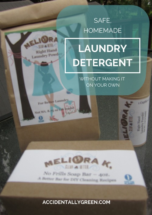 Safe, Homemade Laundry Detergent … Without Making It On Your Own {AccidentallyGreen.com}