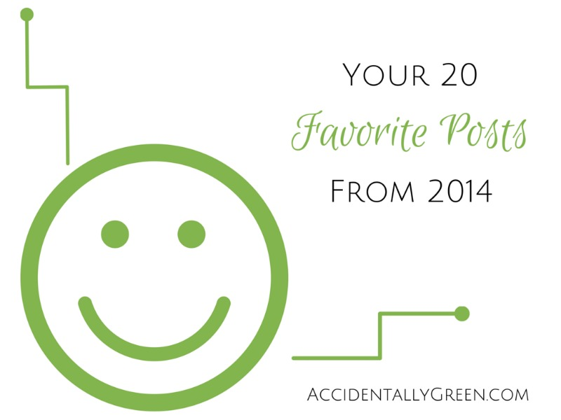 Your 20 Favorite Posts from 2014 {AccidentallyGreen.com}