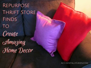 Repurpose Thrift Store Finds to Create Amazing Home Decor {AccidentallyGreen.com}