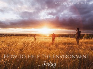 Today on Earth Day and on any other day of the year, the best way you can help the environment is to simply be mindful.