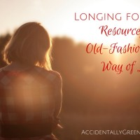 Longing for a Resourceful, Old-Fashioned Way of Life