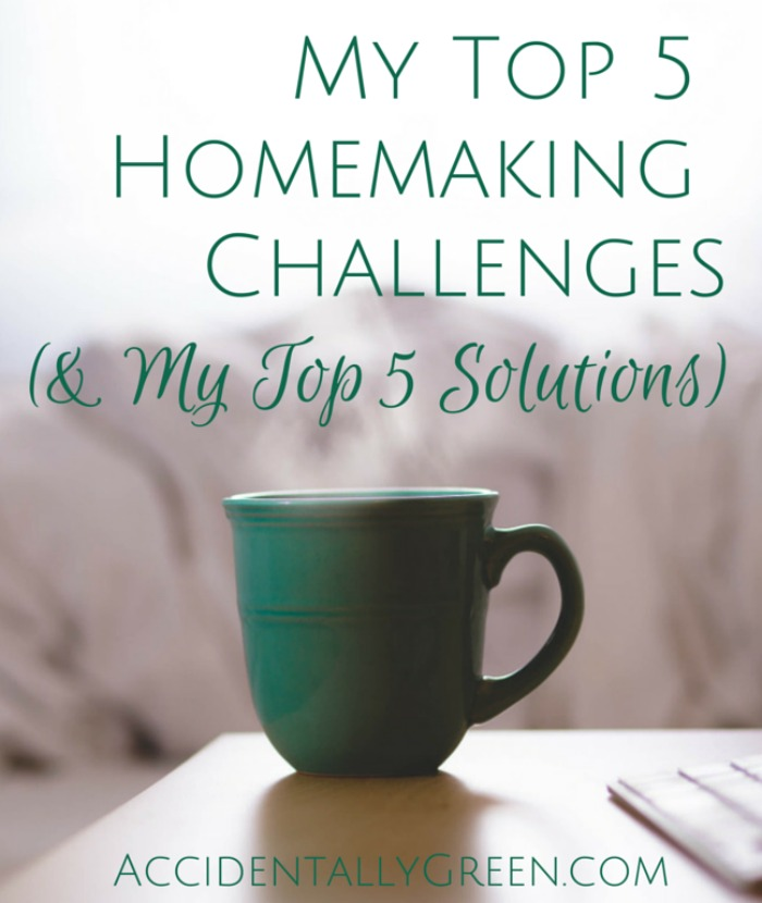 My ideal vision of homemaking is frequently hijacked by 5 common challenges. But by letting go of perfect ideals and embracing homemaking in my unique season of life, I've been able to find much contentment and joy.