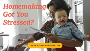 Homemaking got you stressed? Here's help!!