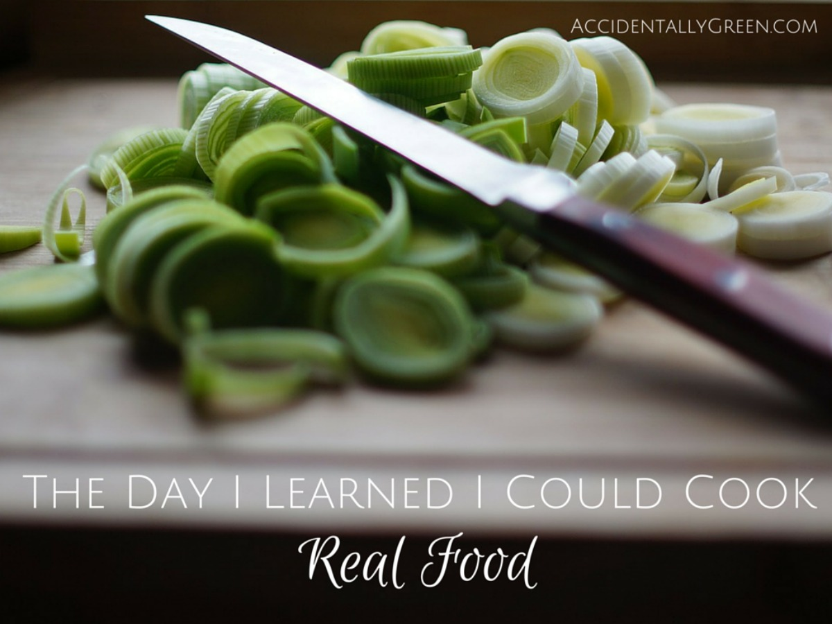 After a life of eating processed food, I was sure I couldn't cook real food. Was I wrong!! I've found it's easy and affordable to cook real food.