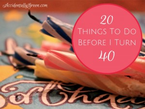20 Things To Do Before I Turn 40