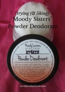 Trying {& Liking} Moody Sisters' Powder Deodorant
